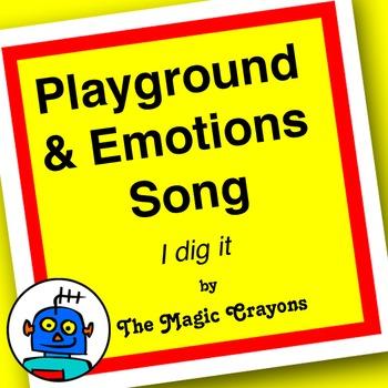 English Playground & Emotions Song 1 for ESL, EFL, Kindergarten. Jump rope
