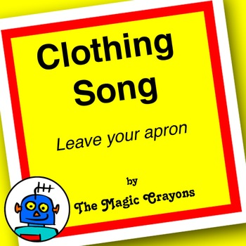 English Clothing Song 3 for ESL, EFL, Kindergarten. Skirt, jeans, T-shirt, hat