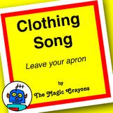 English Clothing Song 3 for ESL, EFL, Kindergarten. Skirt,