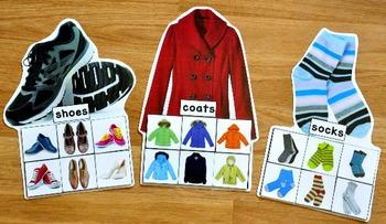 Clothing Sorting Mats (w/Real Photos)