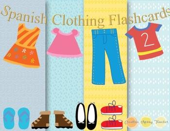 Clothing Spanish Vocabulary Flashcards