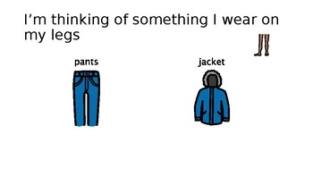 "Clothing Study: Interactive PPT ""I'm thinking of"""