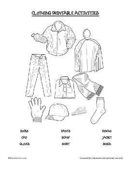 Clothing Theme Activities