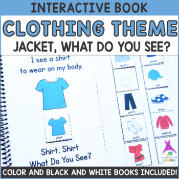 "Clothing Theme ""What Do You See?"" Interactive Adapted Books - Dollar Deal!"