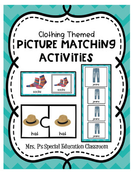 Clothing Themed Picture Matching Activities