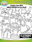 Clothing Picture Shapes Clipart {Zip-A-Dee-Doo-Dah Designs}