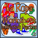Clothing Topic Notes and Interactive Worksheet Activities