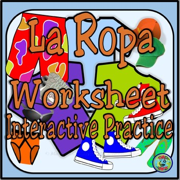 Clothing Topic Notes and Interactive Worksheet Activity