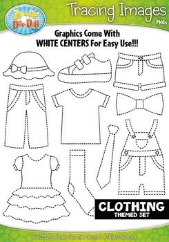 Clothing Tracing Image Clipart {Zip-A-Dee-Doo-Dah Designs}