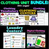 Clothing Unit Center Activities BUNDLE for 3K, Preschool, Pre-K and Kindergarten