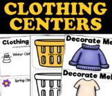 Clothing Unit Centers and Activities for 3K, Preschool, Pre-K and Kindergarten