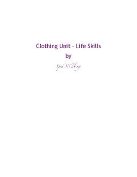 Clothing Unit - Clothing Care, Fastening, & Washing/Drying