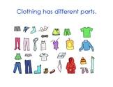 Clothing Unit Vocabulary Book
