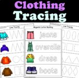 Clothing Unit Writing Centers for 3K, Preschool, Pre-K, Kindergarten