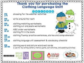 Clothing Language Unit