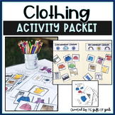 Clothing Vocabulary Activity Packet