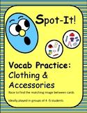 English Clothing Spot It/Dobble/Vocabulary Game