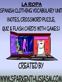 Clothing Vocabulary Lists, Activities, Crossword, Games, & Quiz Unit