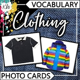 Clothing Vocabulary Flashcards (Speech Therapy, Special Ed