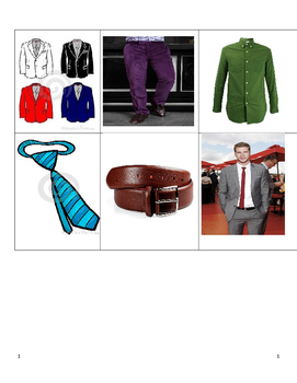 Clothing Vocabulary Picture Flashcards Descubre 1 Ch6