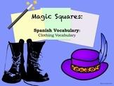 Clothing Vocabulary Spanish Puzzle Activity
