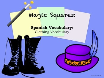 Clothing Vocabulary Spanish Puzzle Activity