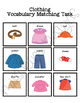 Clothing Vocabulary Folder Game for Early Childhood Special Education