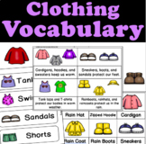 Clothing Vocabulary and Visuals for 3K, Preschool, Pre-K and Kindergarten