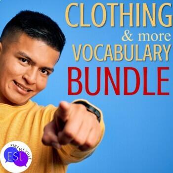 Clothing Vocabulary for ESL Adults BUNDLE