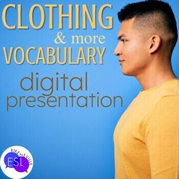 Clothing Vocabulary for ESL Adults DIGITAL PRESENTATION