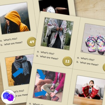 Clothing Vocabulary for ESL Adults TASK CARDS