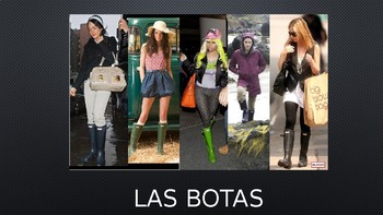Clothing Vocabulary in Spanish Interactive PowerPoint