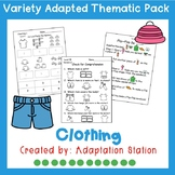 Clothing Adapted Thematic Pack