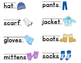 Clothing Word Cards