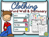 Clothing - Word Wall (33) and personal dictionary