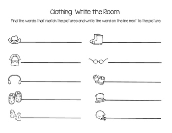 Clothing Write the Room