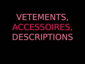 Clothing and Accessories PowerPoint