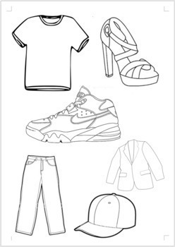 """Clothing and Colors """"Lost and Found"""" lesson and activities"""