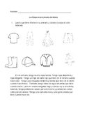 Clothing and Colors Reading and Agreement Worksheet