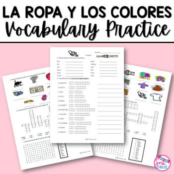 Clothing and Colors Vocabulary Practice / La Ropa y Los Colores
