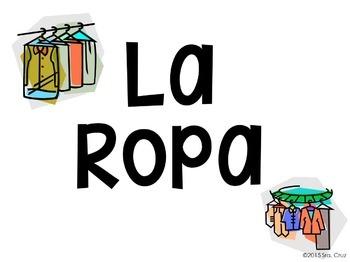 Clothing and Colors Word Wall / La Ropa y Los Colores