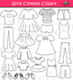 Clothes for Girls Clipart Bundle