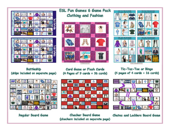 Clothing and Fashion 6 Board Game Bundle