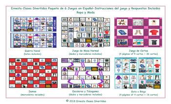 Clothing and Fashion 6 Spanish Photo Game Bundle