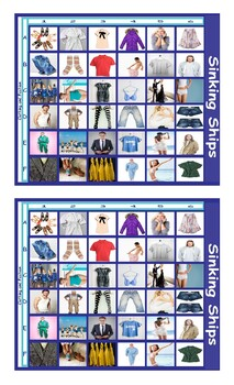 Clothing and Fashion Battleship Board Game