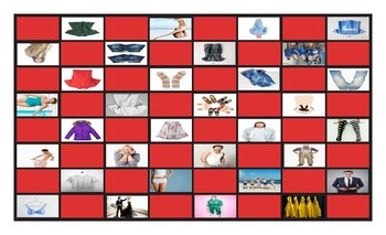 Clothing and Fashion Checker Board Game