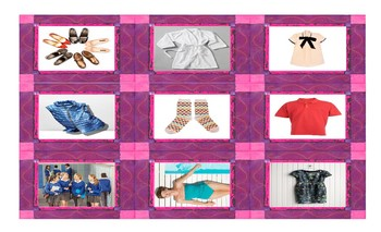 Clothing and Fashion Spanish Legal Size Photo Card Game