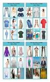 Clothing and Fashion Spanish Legal Size Photo Tic-Tac-Toe or Bingo Card Game