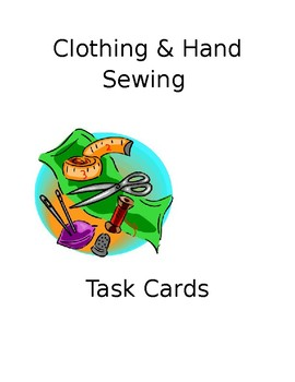 Clothing and Hand Sewing Task Cards