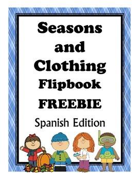Clothing and Seasons Flipbook FREEBIE: Spanish